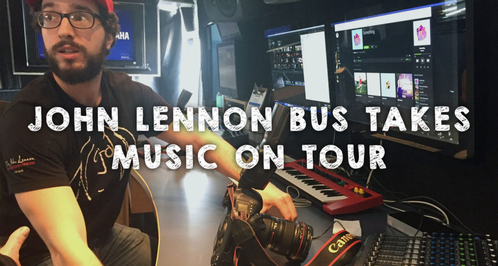 John Lennon Bus Takes Music On Tour