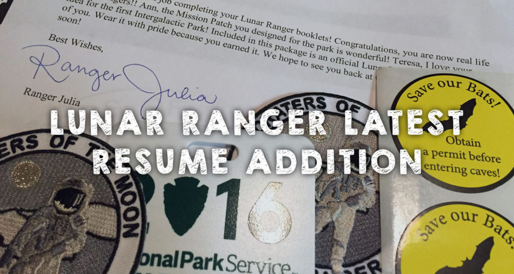 Lunar Ranger Latest Resume Addition